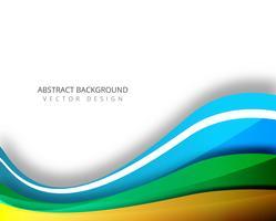 Modern colorful elegant wave background