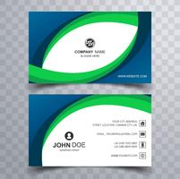 Abstract creative business card wave template design