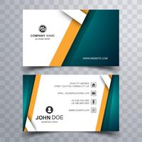 Beautiful colorful business card template vector