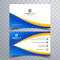 Modern colorful wavy business card template vector illustration