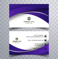 Abstract creative wavy buisness card design