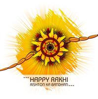 Greeting card design with raksha bandhan colorful background