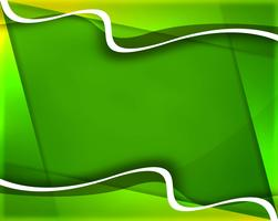 Elegant green creative wave background