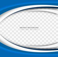 Abstract blue wave transparent background vector