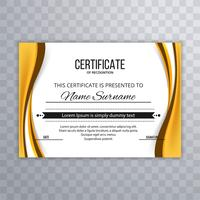 Modern stylish elegant wave certificate background
