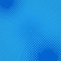 Blue halftone pop art comic background