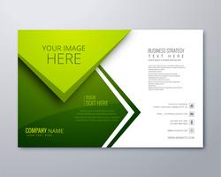 Beautiful green business brochure vector template