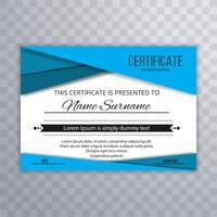 Fondo de onda de certificado con estilo abstracto