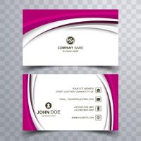Abstract creative wavy business card template