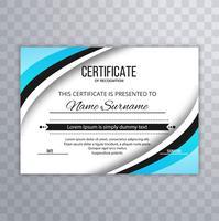 Ilustração de fundo elegante certificado ondulado