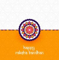 Beautiful Rakhi decorated, Elegant Greeting Card design vector