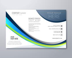 Modern stylish wavy business brochure design