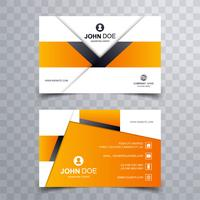 Beautiful creative business card template design vector