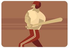 Vector del jugador de béisbol