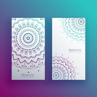 Mandala card design banners set