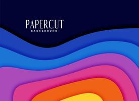vibrant rainbow colors papercut background