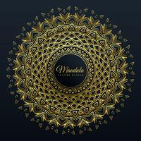 beautiful golden mandala pattern background