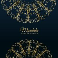 mandala ornamental luxury golden background