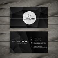 abstract black business card template