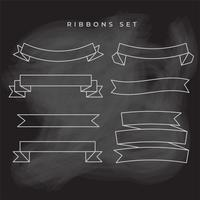 ribbons doodle hand drawn collection