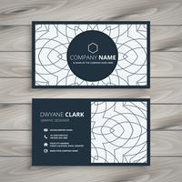 modern business card design with abstract pattern