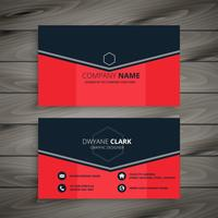 stylish red company business card design