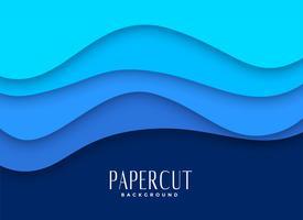 stilig blå papercut bakgrundsdesign