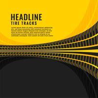 Reifenspur markiert Hintergrunddesign