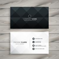 modern black and white business card design