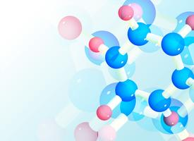 abstract molecules background for science or healthcare medical