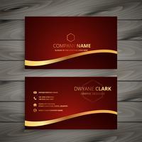 red luxury golden business card design