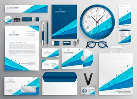 elegant abstract business stationery collection