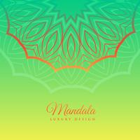 green background with mandala decoration