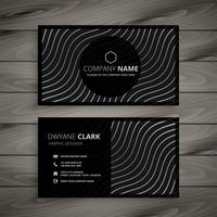 elegant black business card design