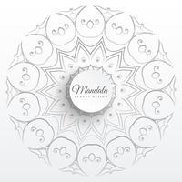 Mandala indiana elegante fundo