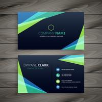 stylish dark abstract business card design