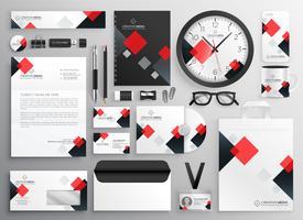 kreativa affärer brevpapper säkerhet i röd tema