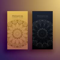 premium mandala card design decoration