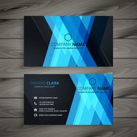 abstract dark blue business card design