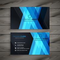 abstract dark blue business card design