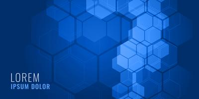 blue hexagonal shape medical background concept