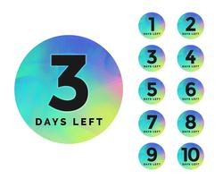 elegant number of days left badge design