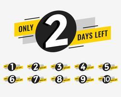 kampanj banner med antal dagar kvar skylt