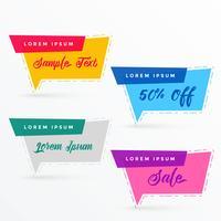 flat sale banner in chat bubble shape