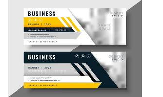geometric yellow business banner design