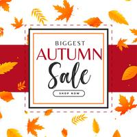 autumn sale background with leaves pattern
