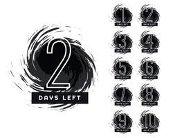 abstrakt antal dagar kvar grunge etikett