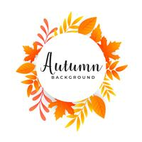 autumn leaves background with text space