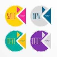 abstract geometric sale label design