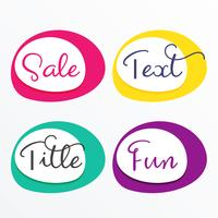 colorful sale frames set design